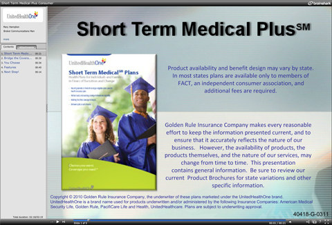 United Health One Short Term Medical Plan Slide Show